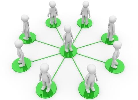 人と人とのネットワークのイメージ図