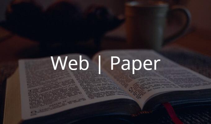 Web媒体と紙媒体