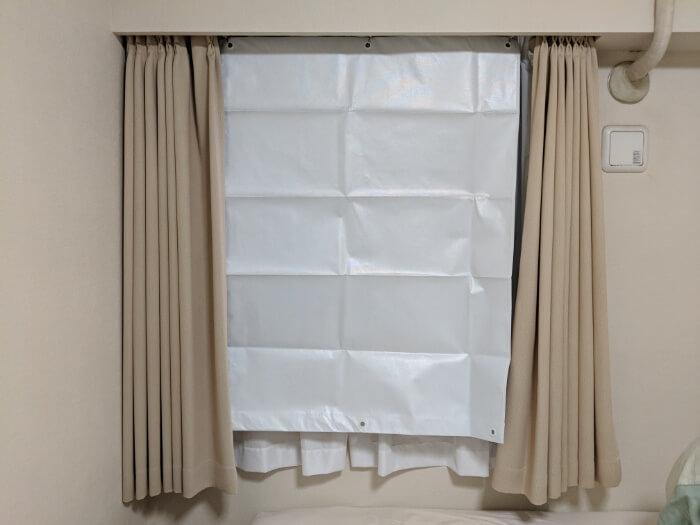 エコスクリーンショートを窓につけた写真