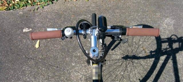 クロスバイクのハンドルカット後